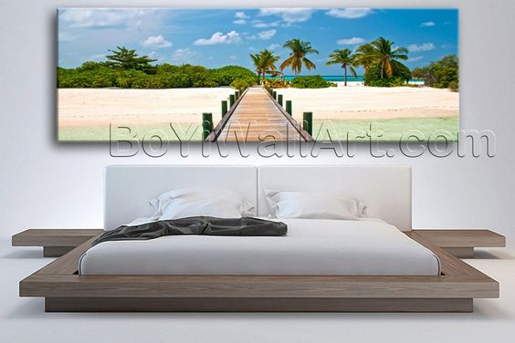 Large Palm Tree Beach Scene Seascape On Canvas Print Wall Home Decor Living  Room, Large Part 55