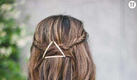 10 jolies coiffures à faire en 30 secondes - Pinterest