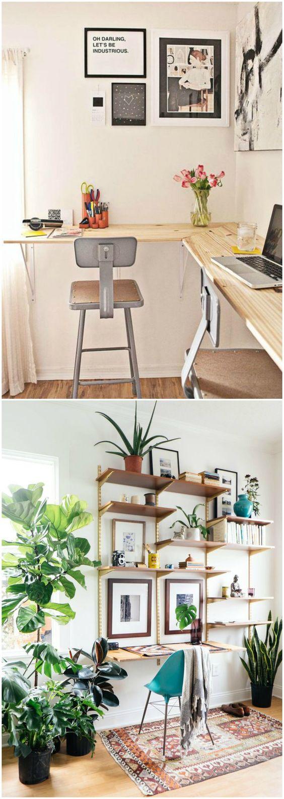 DIY escritorio. Ideas para fabricar tu propio escritorio. Visto en www.ecodecomobiliario.com