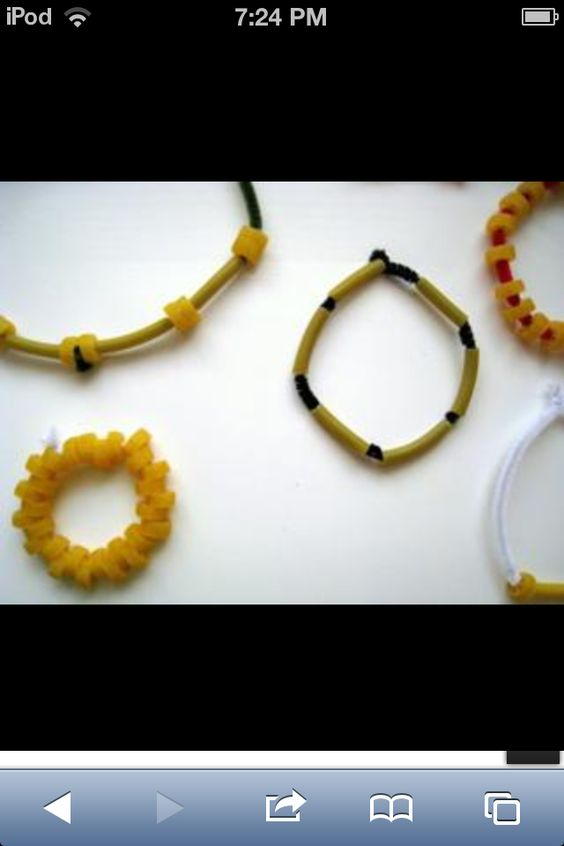 Noodle necklaces and braclets