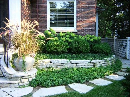 Foundation plantings with boxwood hydrangea and for Foundation garden designs