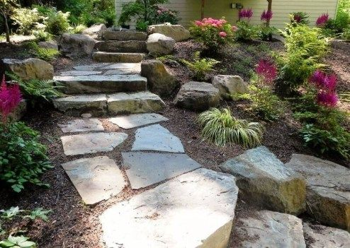 39 Unique Garden Stepping Stone Ideas Luxury 37 Magnificent Backyard Stone Step Ideas Rustic Landscaping Front Yard Landscaping With Rocks Rustic Landscaping