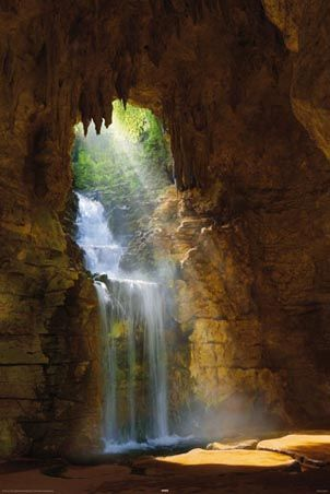Waterfall Grotto  by Mike Dobel