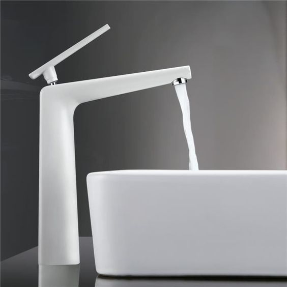 robinetterie sdb homelody salle de bain robinet mitigeur lavabo vasque monocommande sur plage rond - Grand Lavabo Salle De Bain