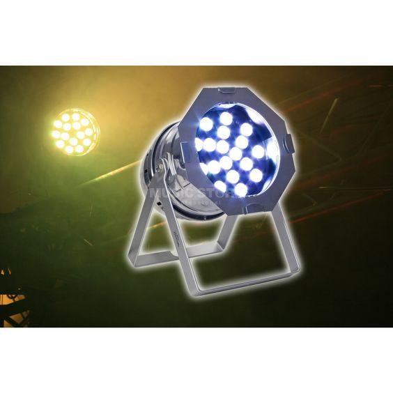 lightmaXX LED PAR 64 TRI polish 18x 3W RGB-TRI LEDs