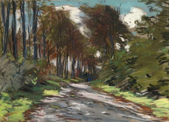 Claude Monet Chemin Creux, Effet de Lumière 1881 10.38 X 14 in (26.35 X 35.56 cm) Pastel on paper