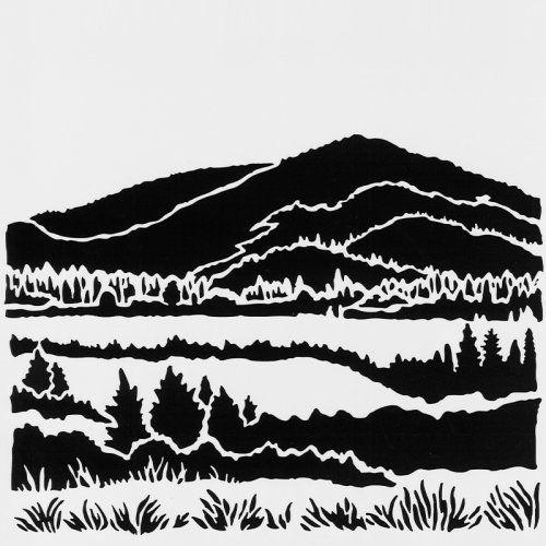 "6x6/"" ~ Laurel Stag Imagination Crafts ~ Stencil Template ~ 15x15 cm"