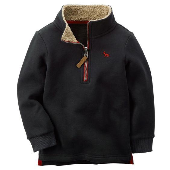 Sueded Fleece Pullover