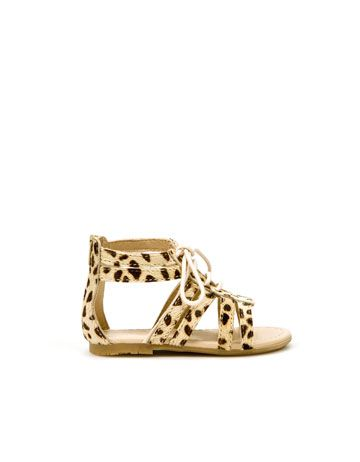 Leopard gladiator sandals! I need these for Tilley Gray and for me!