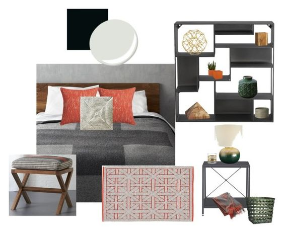 """Sfgirlbybay Guest Room Makeover - ""Charcoal pop"""" by movement4d ❤ liked on Polyvore"
