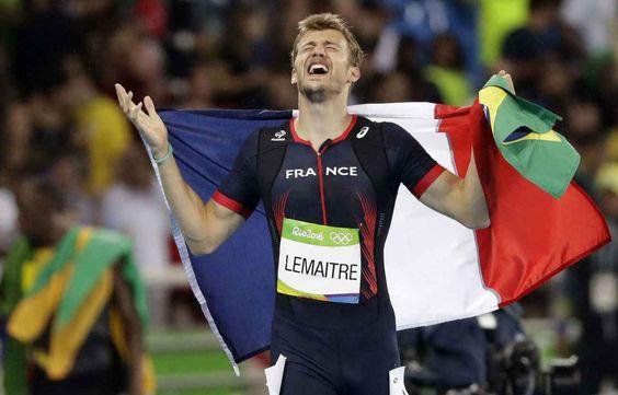 Christophe Lemaitre, troisième du 200 m des JO le 18 août 2016.