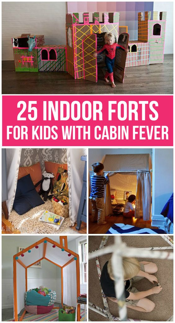 If your kids are stuck inside this winter (or anytime) try building one of these amazing indoor forts!