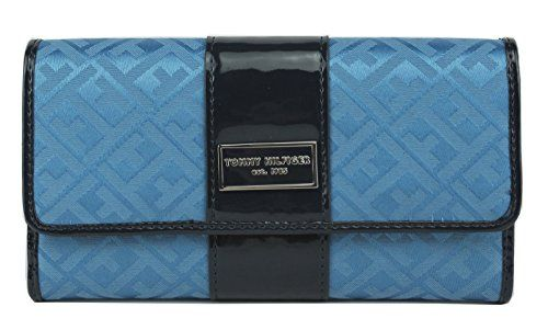 Tommy Hilfiger Blue Women's Wallet Clutch Checkbook - http://bags.bloggor.org/tommy-hilfiger-blue-womens-wallet-clutch-checkbook/