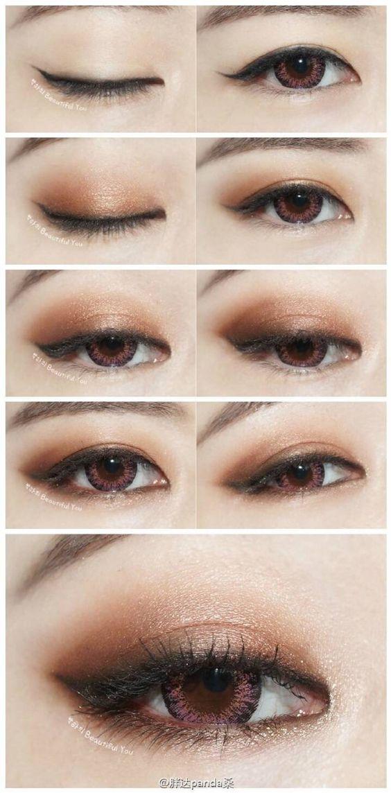 sexy eye Japanese eye makeup Korean Asian