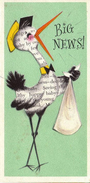 Image result for mixed media new baby card