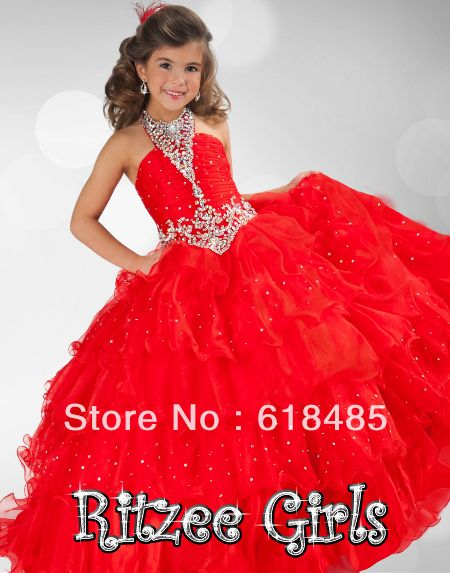 New Lovely Stock Ball Gowns Girl Kids Pageant Party Dance Dress ...