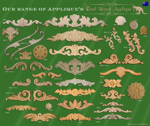 architectural furniture applique or onlay shabby french chic real wood 0049  ebay appliques for