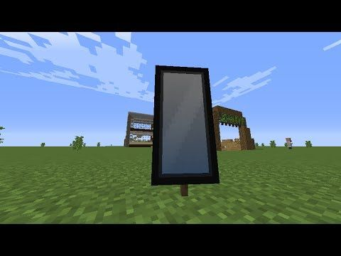 How To Make A Mirror In Minecraft Banner Minecraft Minecraft Plans Minecraft Designs