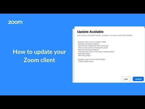 Overview Zoom Regularly Provides New Versions Of The Zoom Desktop Client And Mobile App To Release New Features And Fix Bugs We In 2021 Clients Mobile App App