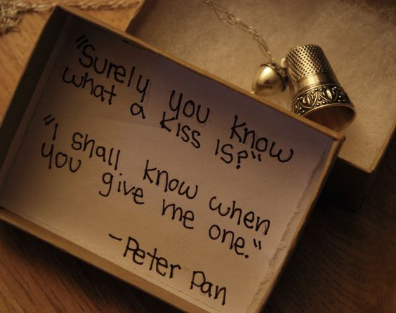 Peter Pan kiss. If anyone ever does this for me I'm marrying them for sure