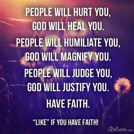 A quote about faith and helping people?