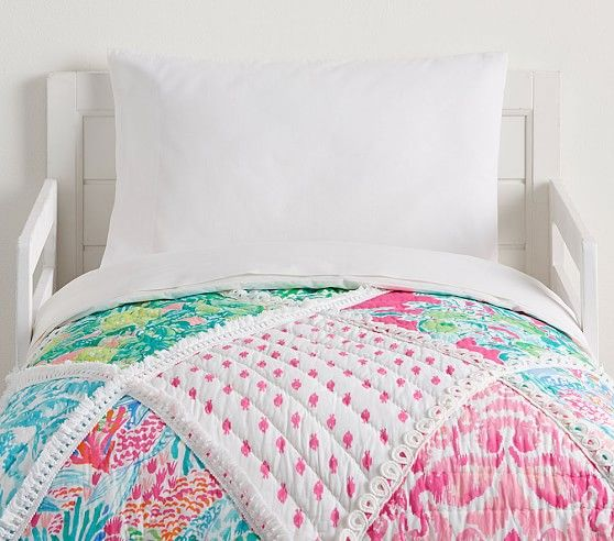 Lilly Pulitzer Party Patchwork Toddler Quilt Toddler Quilt