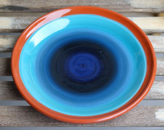 Ombre Pottery Hand Thrown Plate By Earthtones3 On Etsy