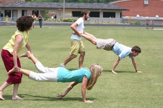 Wheelbarrow race  this was one of the things we did on Sports Day also Sack races