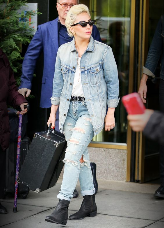Lady Gaga Gives the Canadian Tuxedo a Rock Star Twist from InStyle.com
