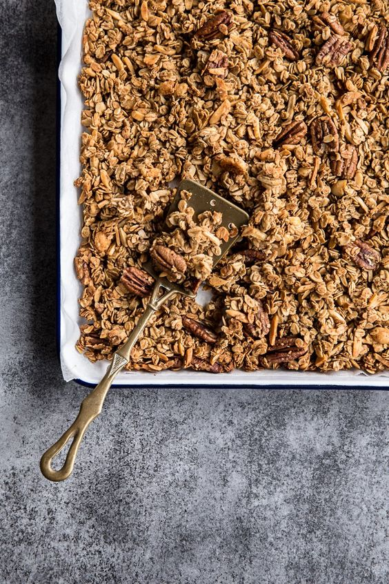 Coffee Gingerbread Granola - Cook Republic: