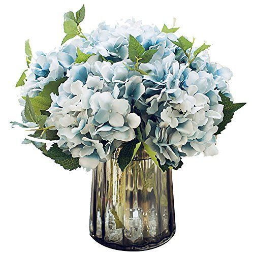 Anna Homey Decor 1pcs Artificial Flower In Vase Fake Flowers Silk Floral Artificial Hydrangea Bridal Bouquets For Wedding Fakes Flower Petals Decoration For Bed In 2020 Hydrangea Flower Arrangements Fake Flowers