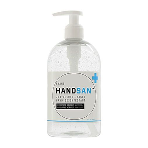 Handsan Alcohol Gel Hand Rub 500ml Pump Bottle Alcohol Hand
