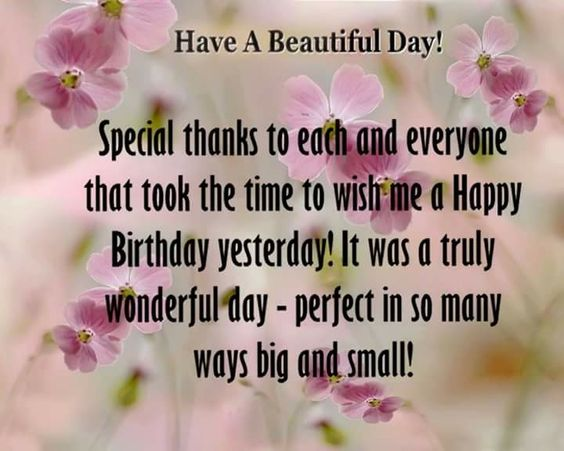 Birthday  wishes thanks