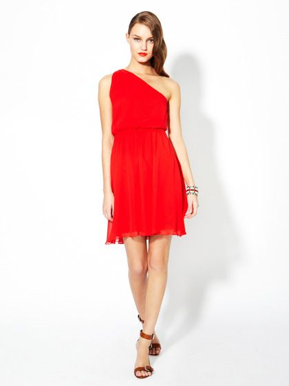 Mila Asymmetrical Silk Dress by Alice + Olivia on Gilt