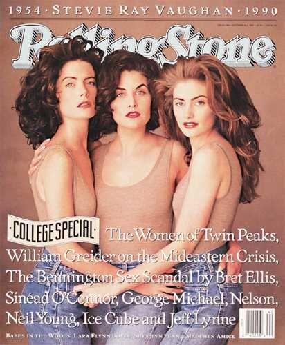 Rolling Stone, October 4, 1990:  The Women of 'Twin Peaks.'  It's probably time for a Twin Peaks board. #twinpeaks