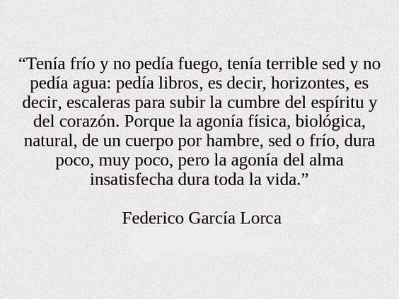 〽️ Federico García Lorca                                                                                                                                                                                 Más: