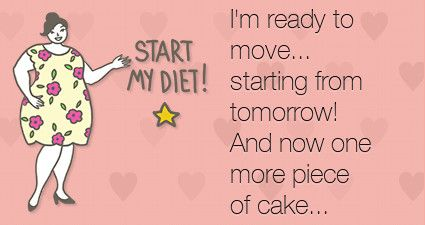 I'm ready to move... starting from tomorrow! And now one more piece of cake...