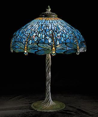 "Louis Comfort Tiffany - ""Dragonfly"" Lampe (1902):"
