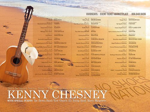 Custom wallpaper for 2013 No Shoes Nation Kenny Chesney Tour Dates!