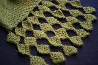 Hildes hekle-strikkeri-hurra!: Helt firkanta / Totally square; how to crochet this lovely edging