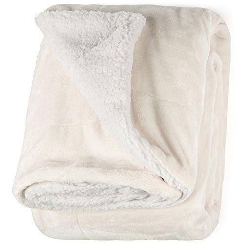 Pavilia Premium Plaid Fleece Sherpa Throw Blanket Sherpa Throw