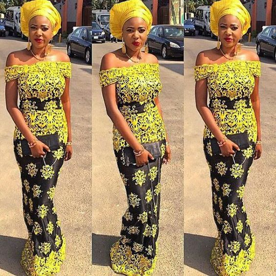 Aso Ebi Lace Styles Wedding Guest Are Slaying: