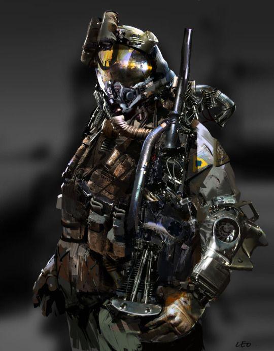 ArtStation - soldier, Leo Lee