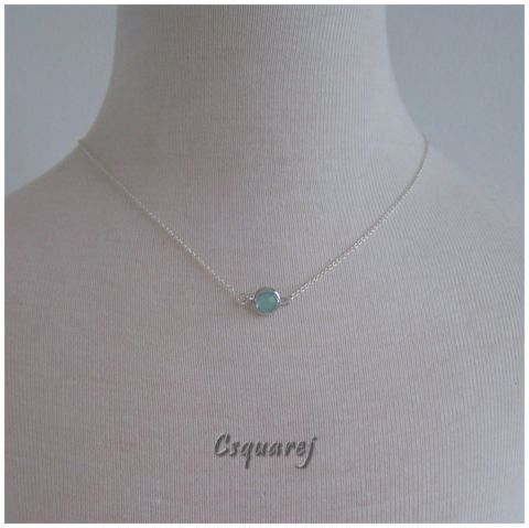 Dainty Solitaire Color Pendant Silver Necklace - Online Only Offer – Csquare J