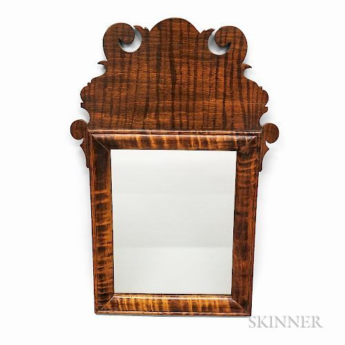 Queen Anne Tiger Maple Mirror In 2020 Queen Anne Mirror Queen