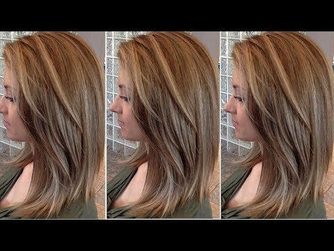 How To Long Layered Bob Haircut Tutorial Layered Haircut Techniques Youtube With Images Long Layered Hair