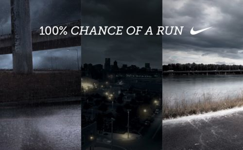 100% Chance... I love this. All weather, Im there. My family calls me storm runner.