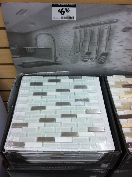 Tile back splash Valor Moon Mosaic