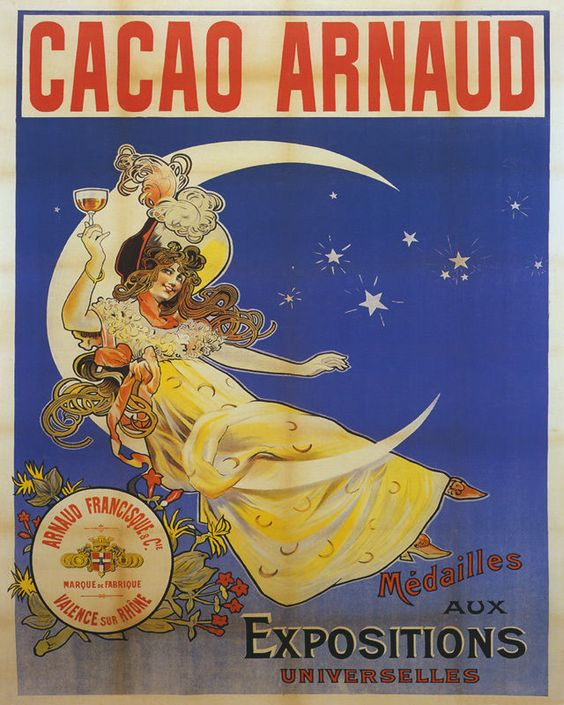 POSTER CHOCOLATE AMATLLER MARCA LUNA JAPANESE FULL MOON VINTAGE REPRO FREE S//H