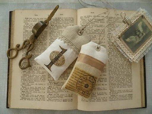 Manualidades con arpillera crochet y puntillas - Manualidades con tela ...